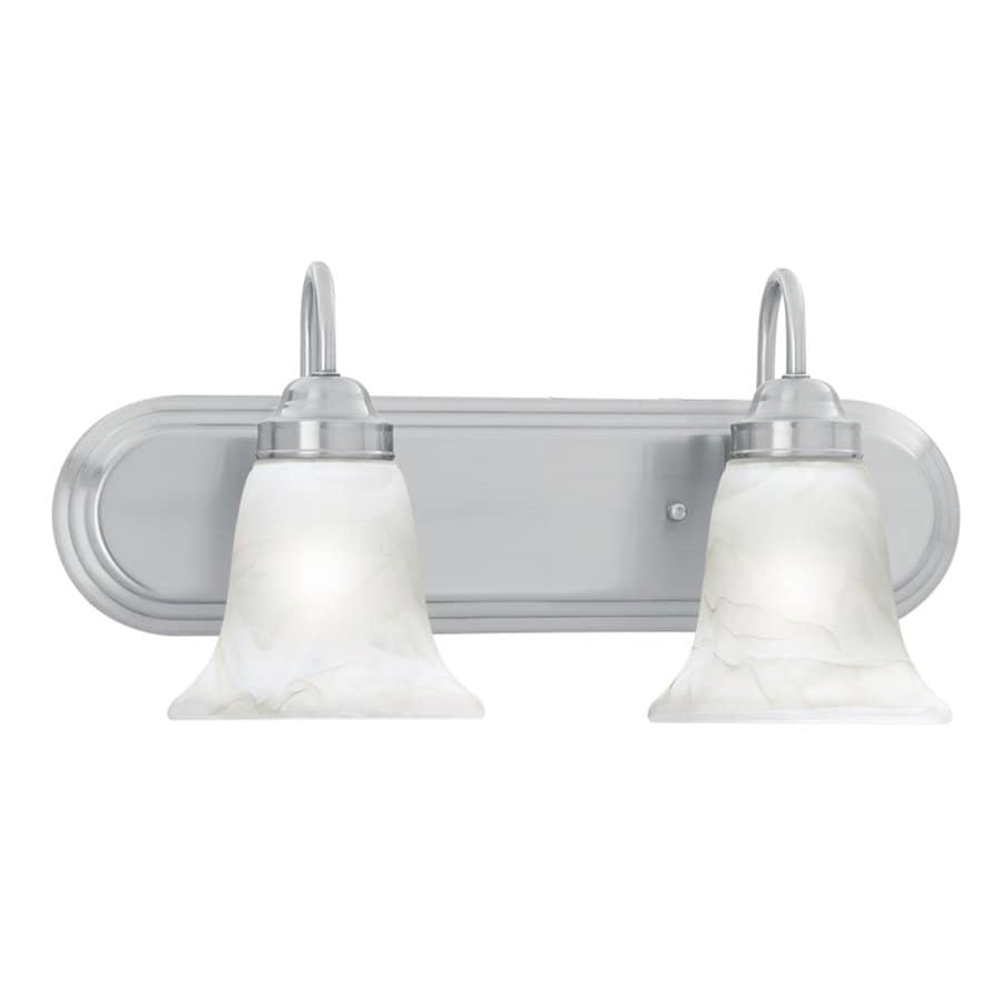 Shop Thomas Lighting 2 Light Homestead Brushed Nickel Bathroom Vanity Light At
