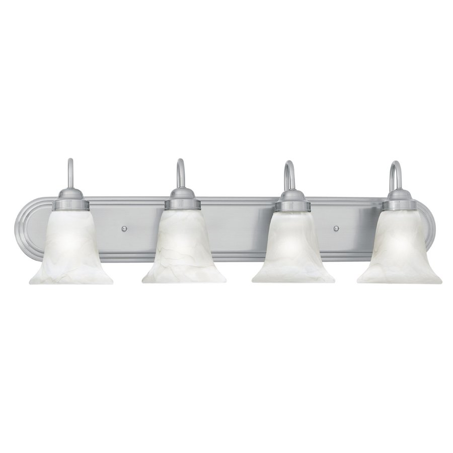 4 Light Brushed Nickel Vanity Lights : Shop Thomas Lighting 4-Light Homestead Brushed Nickel Bathroom Vanity Light at Lowes.com