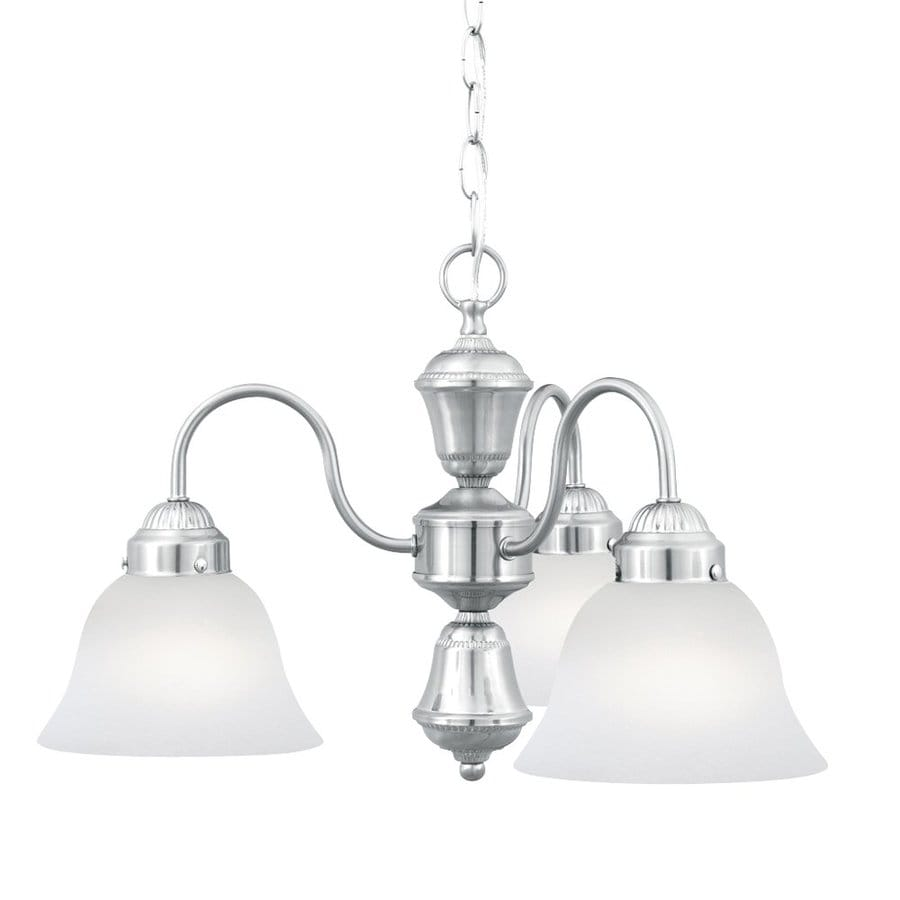 Thomas Lighting Whitmore 20.5-in 3-Light Brushed Nickel Shaded Chandelier