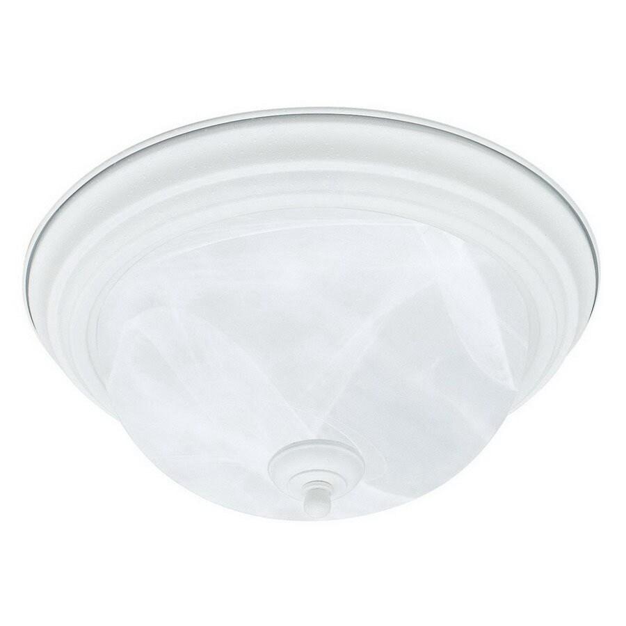 Thomas Lighting 13.25-in W Textured White Ceiling Flush Mount