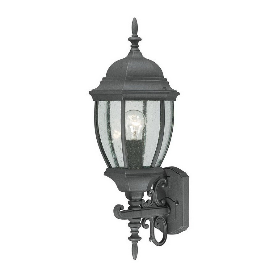Thomas Lighting Convington 24-in Black Outdoor Wall Light