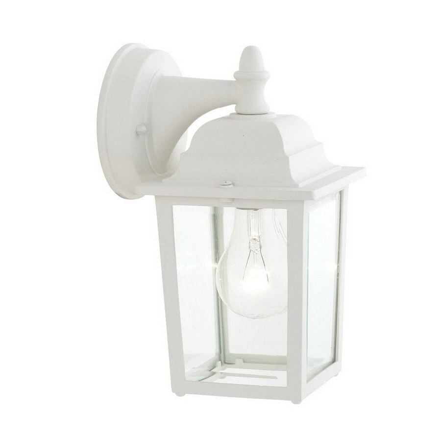 Thomas Lighting Hawthorne 10-in Matte White Outdoor Wall Light