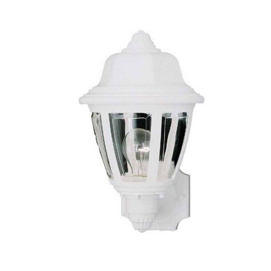 Thomas Lighting 13-1/2-in White Outdoor Wall Light