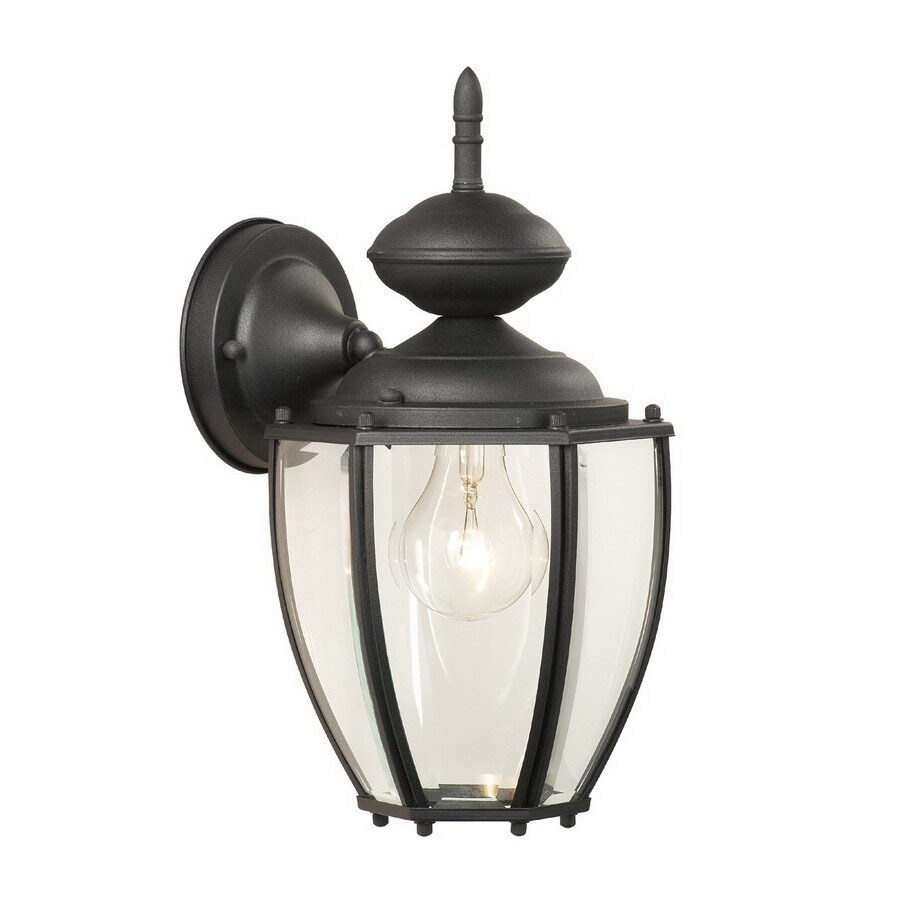 Thomas Lighting Park Avenue 12-1/2-in Black Outdoor Wall Light