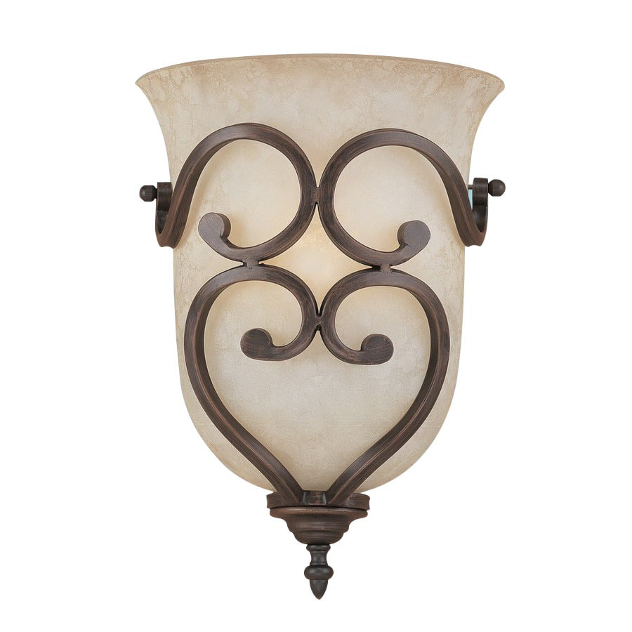 Millennium Lighting Courtney Lakes 10-in W 1-Light Rubbed Bronze Pocket Hardwired Wall Sconce