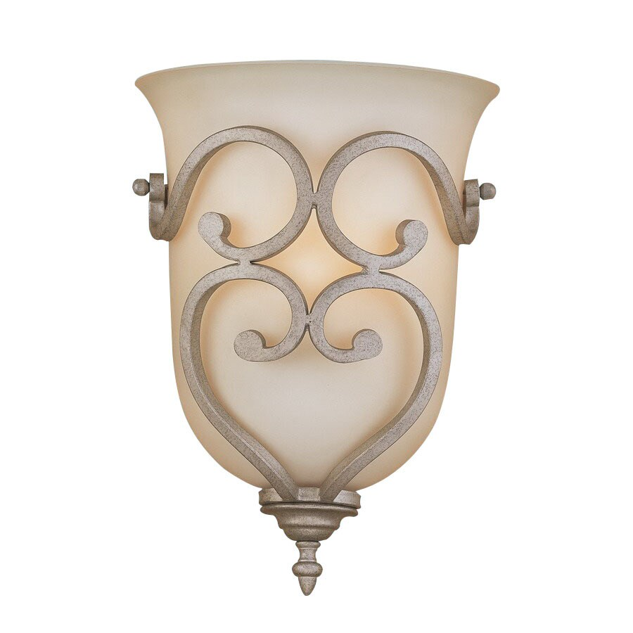 Millennium Lighting Courtney Lakes 10-in W 1-Light Vintage Iron Pocket Hardwired Wall Sconce