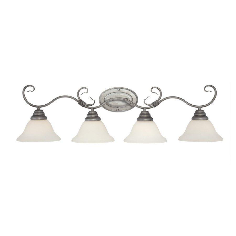 Millennium Lighting 4-Light Rubbed Silver Standard Bathroom Vanity Light