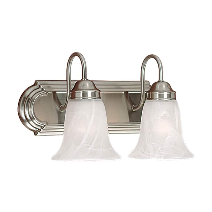 Bathroom Vanity Lights Satin Nickel : Shop Millennium Lighting 2-Light Satin Nickel Standard Bathroom Vanity Light at Lowes.com