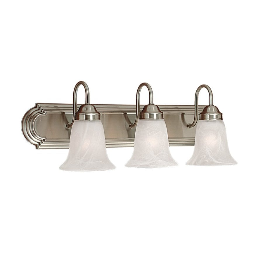 Three Light Bathroom Vanity Light: Shop Millennium Lighting 3-Light Satin Nickel Standard Bathroom Vanity Light At Lowes.com