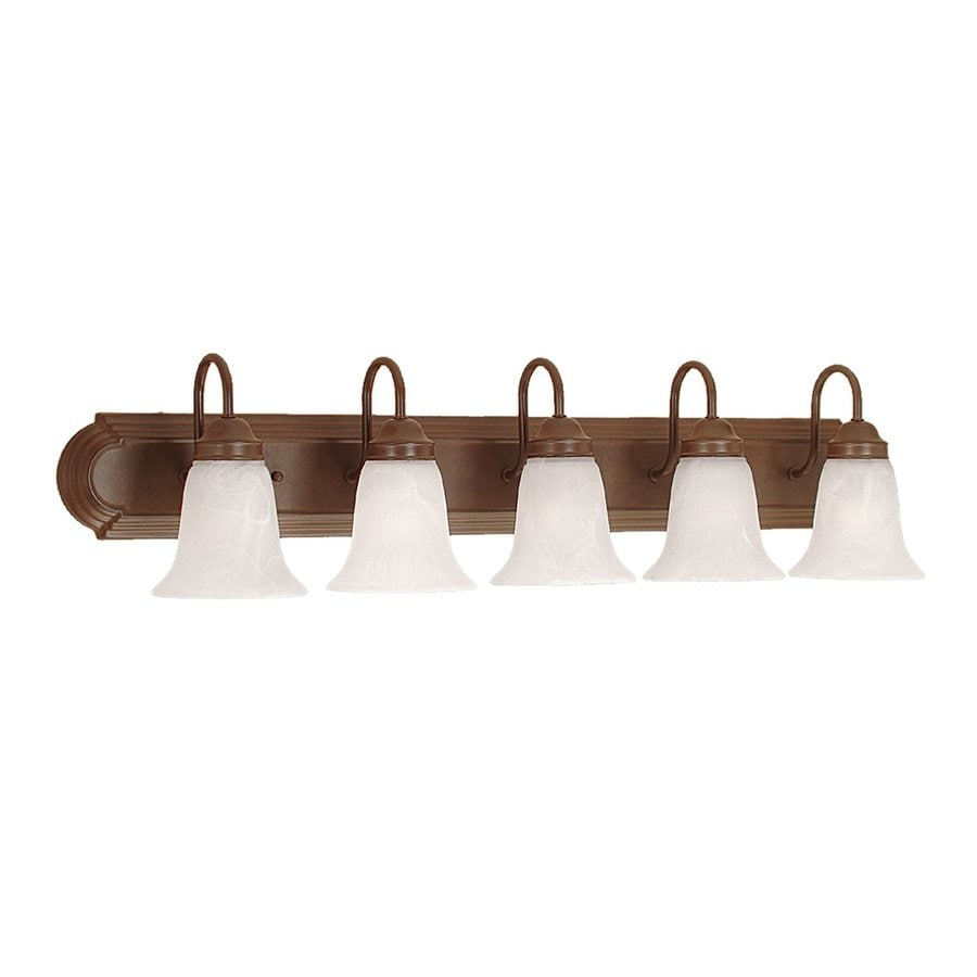 Shop Millennium Lighting 5 Light Bronze Standard Bathroom Vanity Light At