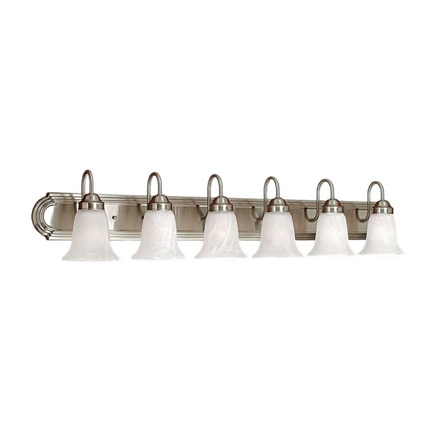 Millennium Lighting 6-Light Satin Nickel Standard Bathroom Vanity Light