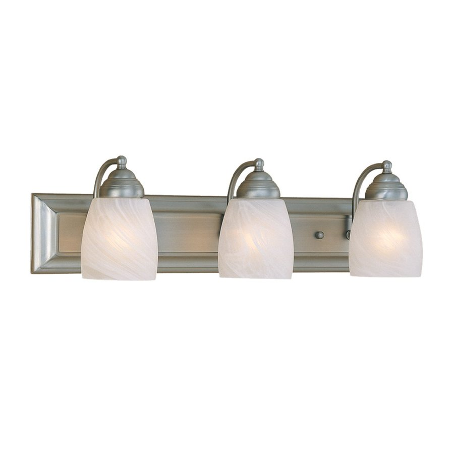 Shop Millennium Lighting 3-Light Satin Nickel Standard Bathroom Vanity Light at Lowes.com