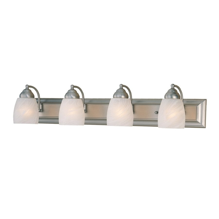 Vanity Lights Satin Nickel : Shop Millennium Lighting 4-Light Satin Nickel Standard Bathroom Vanity Light at Lowes.com