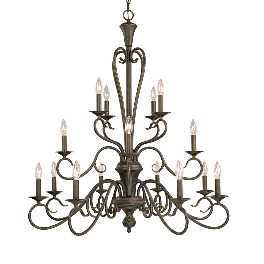 Millennium Lighting Devonshire 36.5-in 16-Light Burnished Gold Vintage Candle Chandelier
