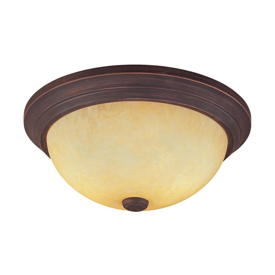 Millennium Lighting 13-in W Rubbed Bronze Ceiling Flush Mount Light