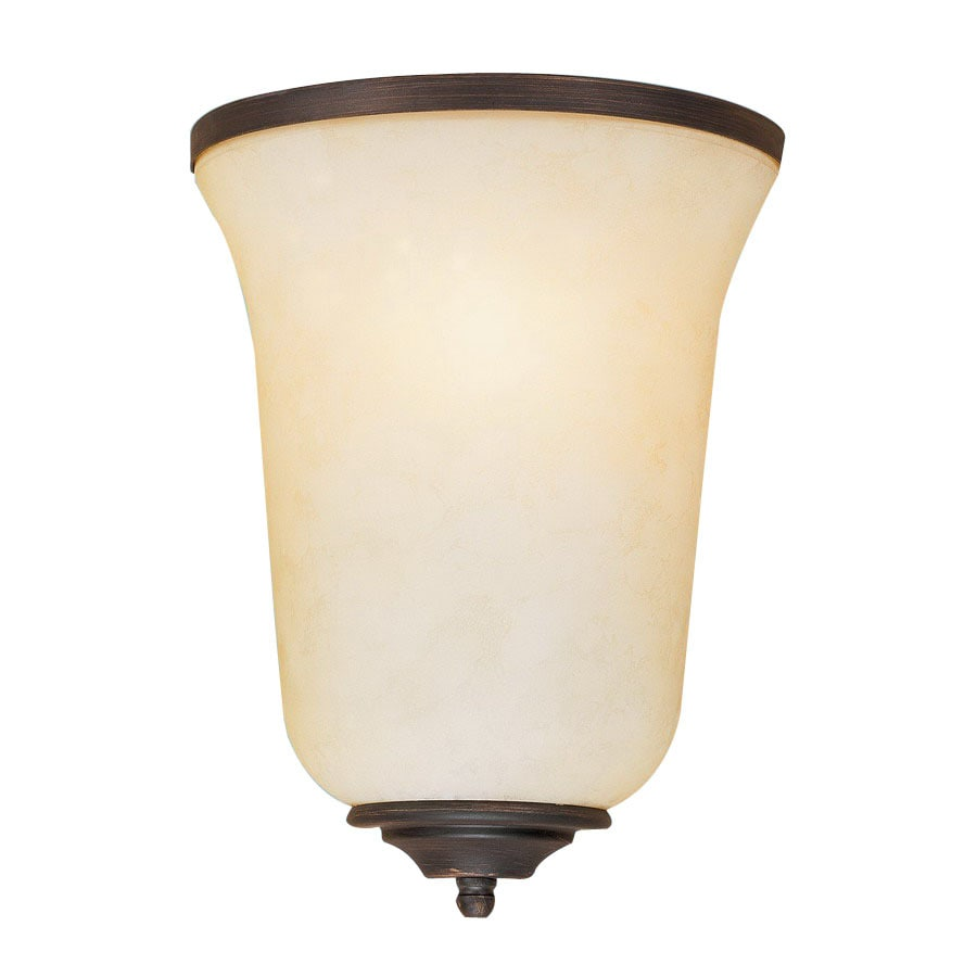 Shop Millennium Lighting 8-in W 1-Light Rubbed Bronze Pocket Hardwired Wall Sconce at Lowes.com