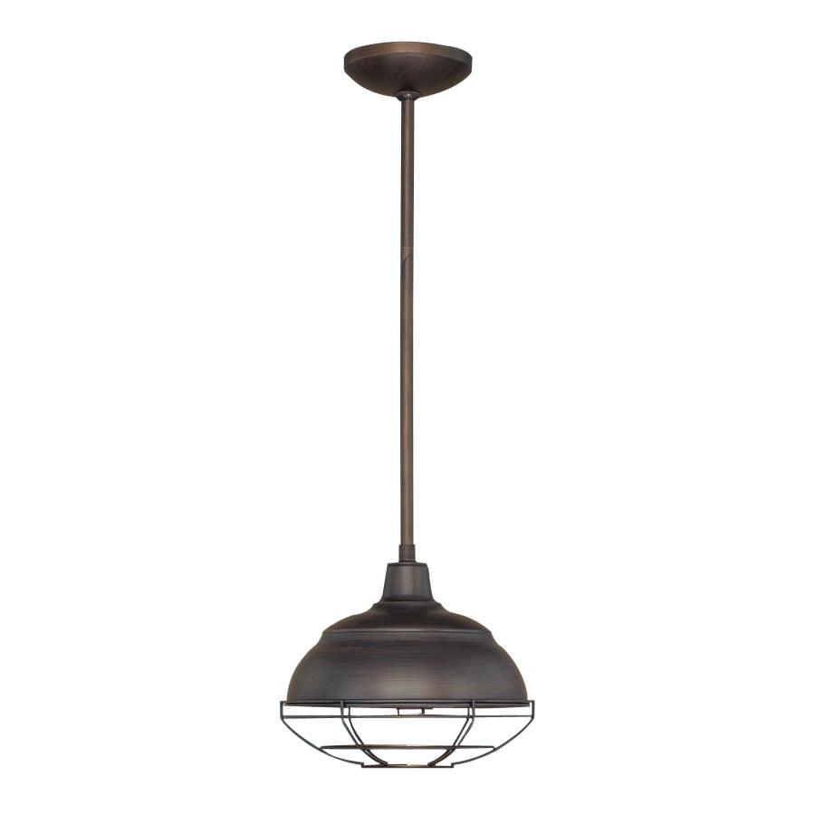 Millennium Lighting Neo-Industrial 10.25-in Rubbed Bronze Industrial Mini Warehouse Pendant