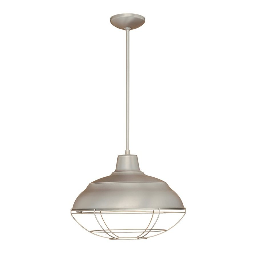 Kitchen Island Single Pendant Lighting: Shop Millennium Lighting Neo Industrial 17-in Satin Nickel