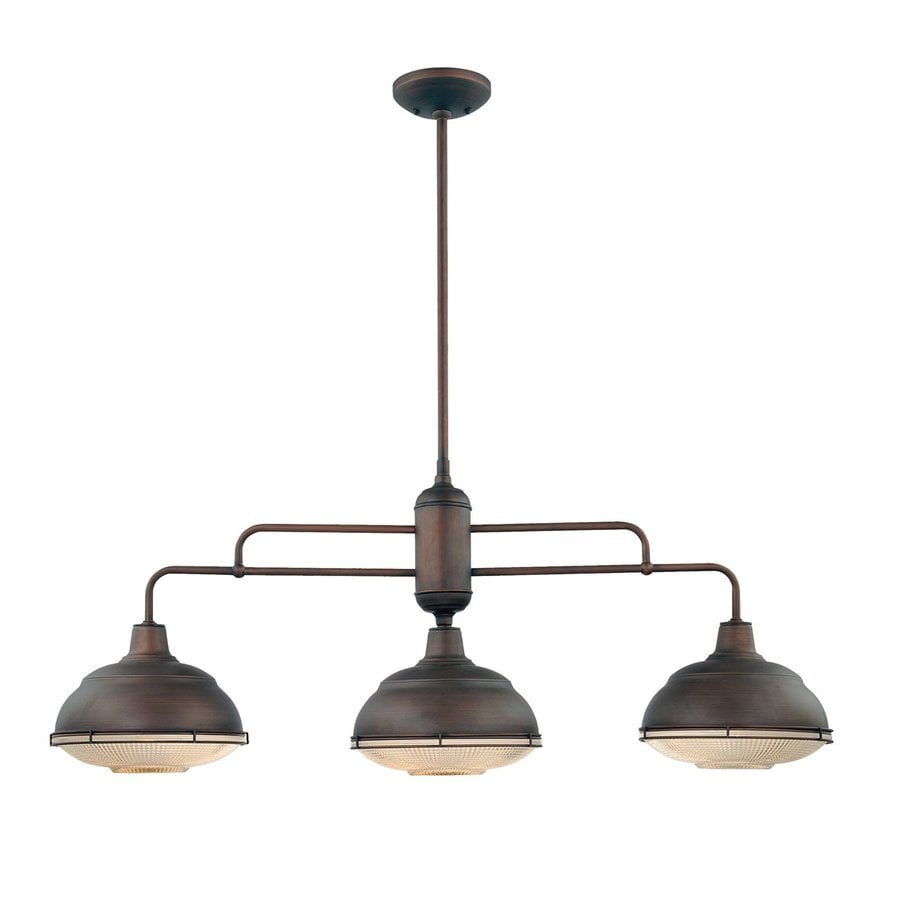 Millennium Lighting Neo-Industrial W 3-Light Rubbed Bronze Kitchen Island Light with Shade