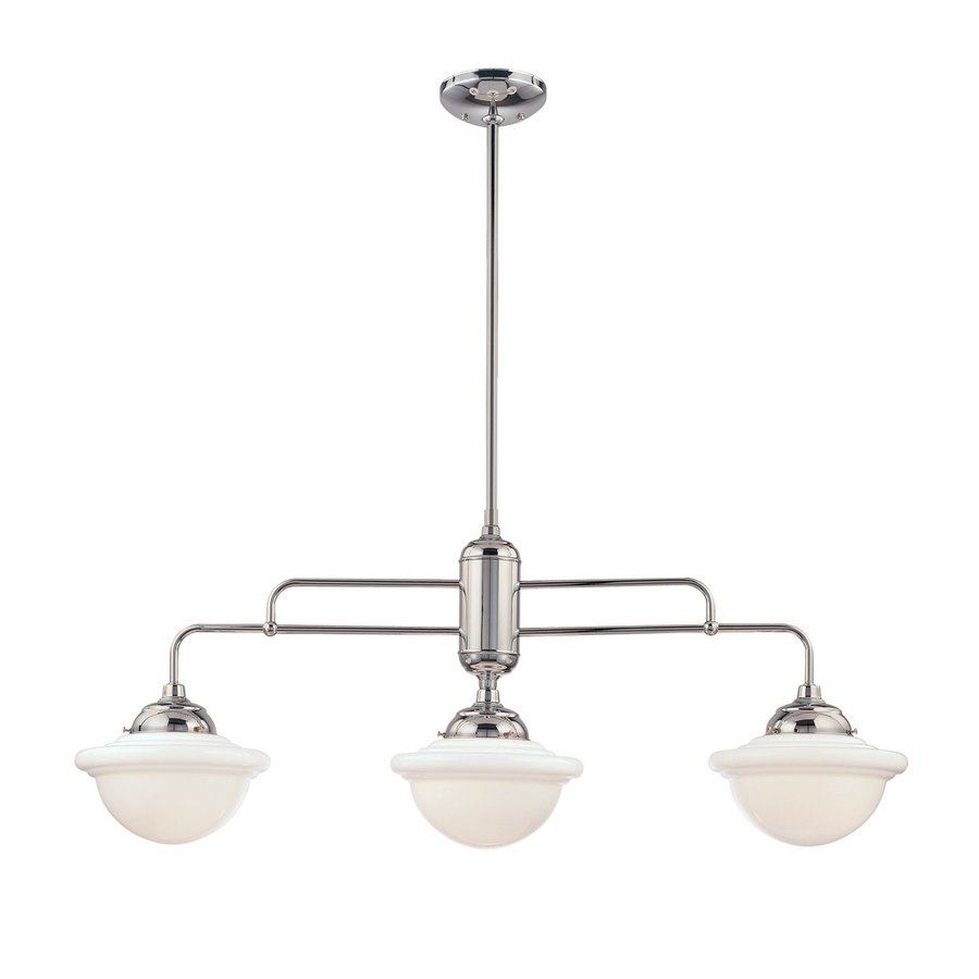 Millennium Lighting Neo-Industrial W 3-Light Chrome Kitchen Island Light with Shade