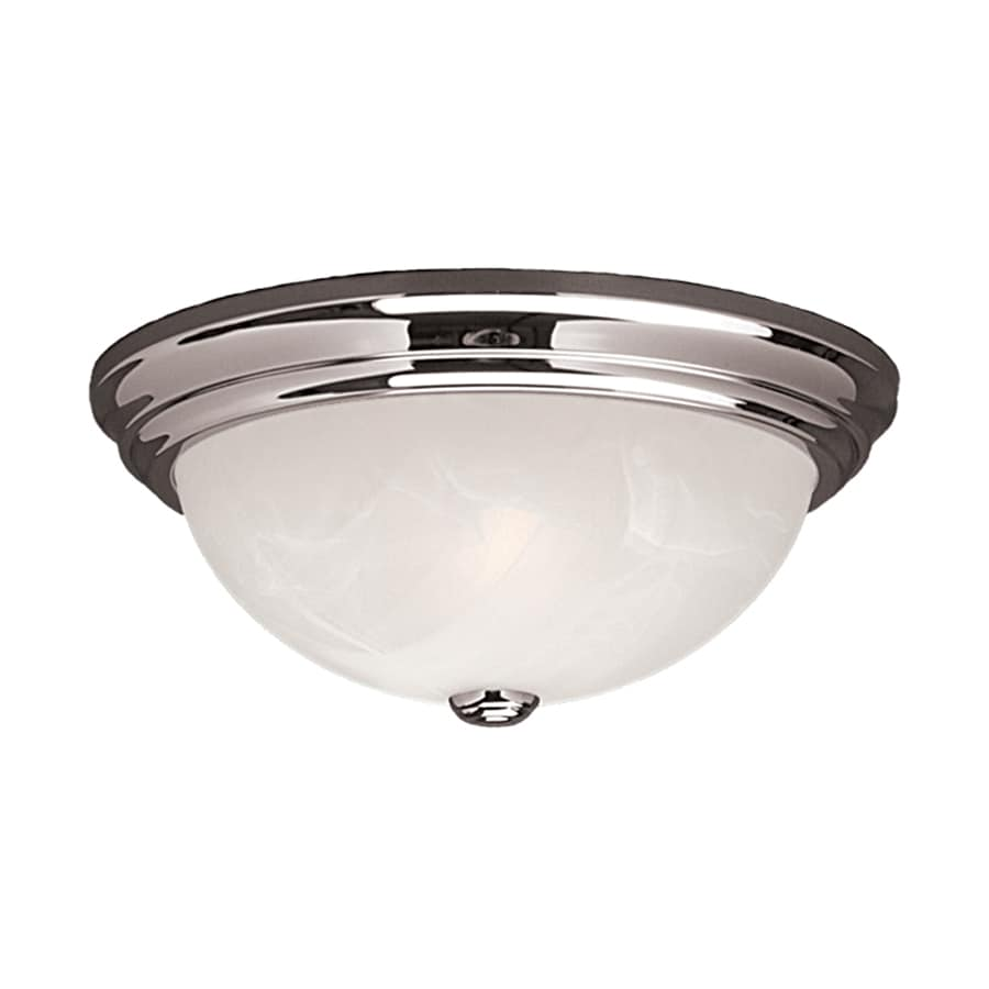 lighting 11 in w chrome ceiling flush mount light at. Black Bedroom Furniture Sets. Home Design Ideas