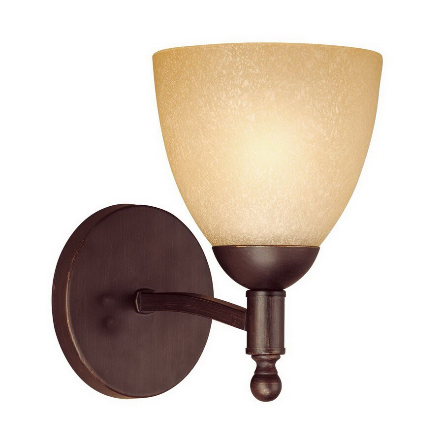Shop Millennium Lighting Racine 6-in W 1-Light Rubbed Bronze Arm Hardwired Wall Sconce at Lowes.com
