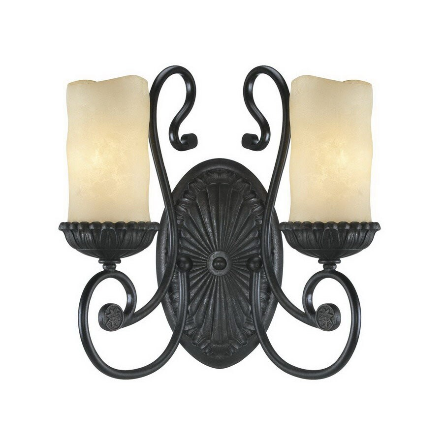 Millennium Lighting Brunswick 14-in W 2-Light Burnished Gold Arm Hardwired Wall Sconce