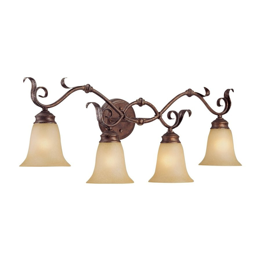 Millennium Lighting 4-Light Burled Bronze/Silver Standard Bathroom Vanity Light