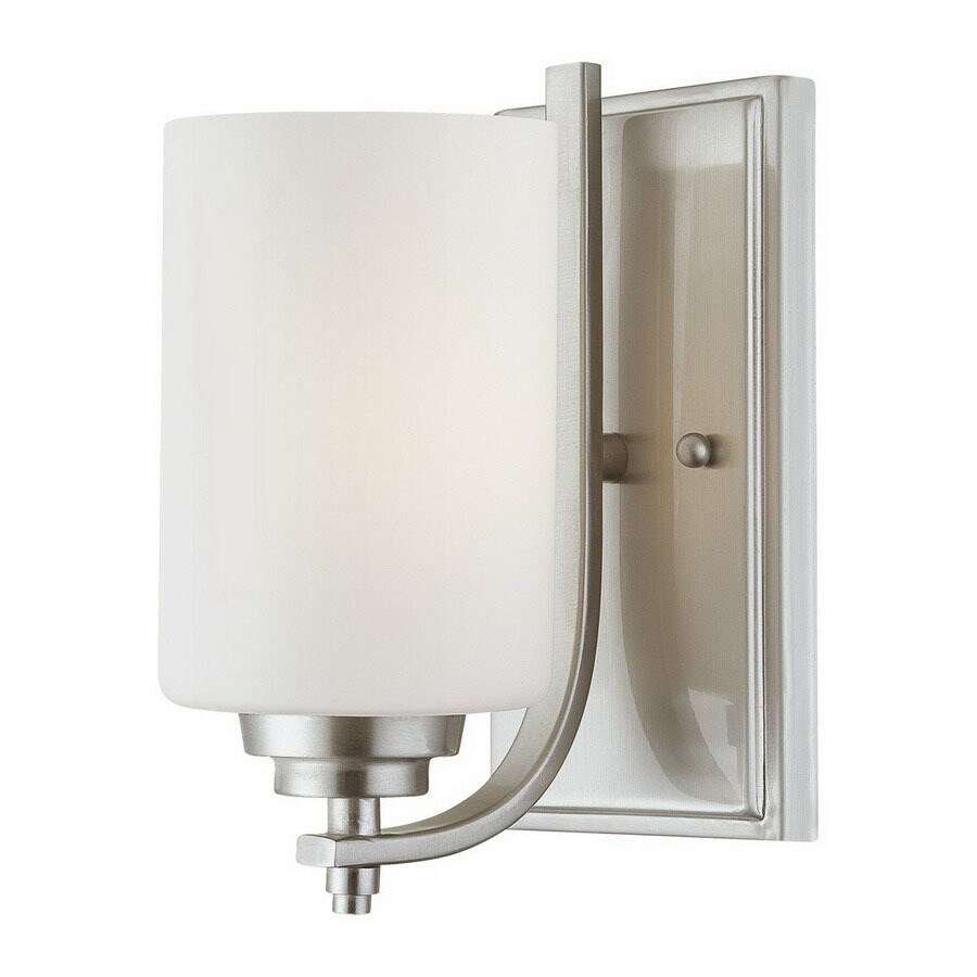 Wall Lamps Not Hardwired : Shop Millennium Lighting Bristo 5-in W 1-Light Satin Nickel Arm Hardwired Wall Sconce at Lowes.com