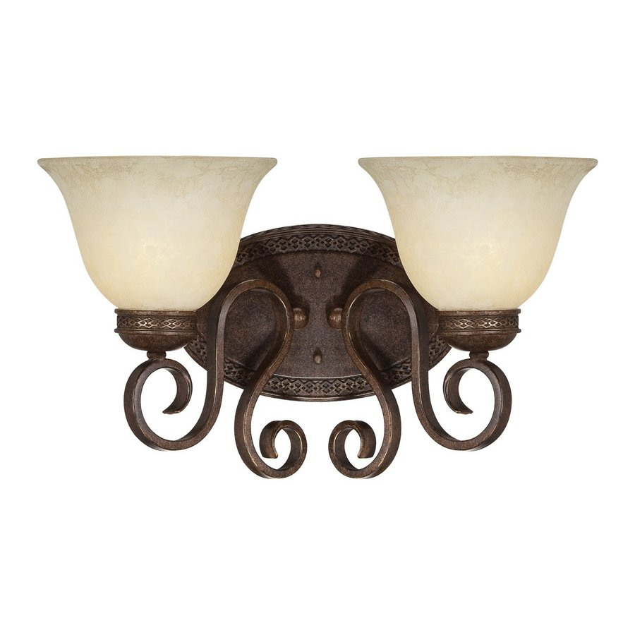 Shop Millennium Lighting 2 Light Alma Bronze Gold Standard Bathroom Vanity Li