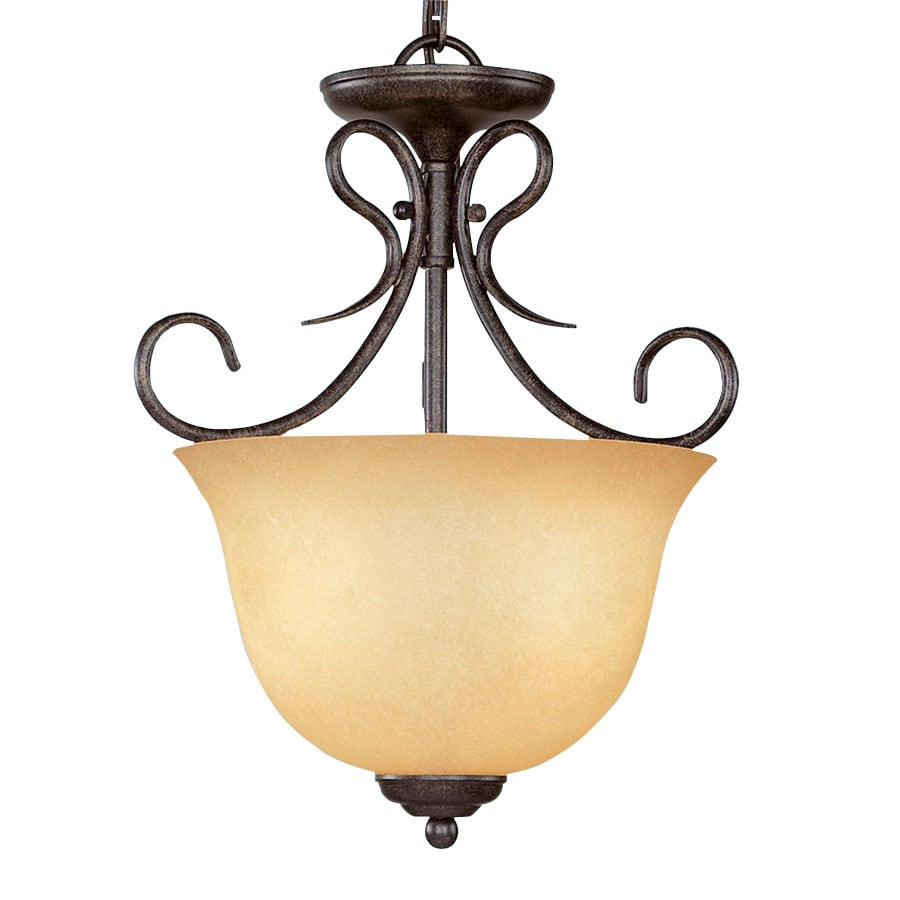 Millennium Lighting 13-in W Burnished Gold Pendant Light with Shade