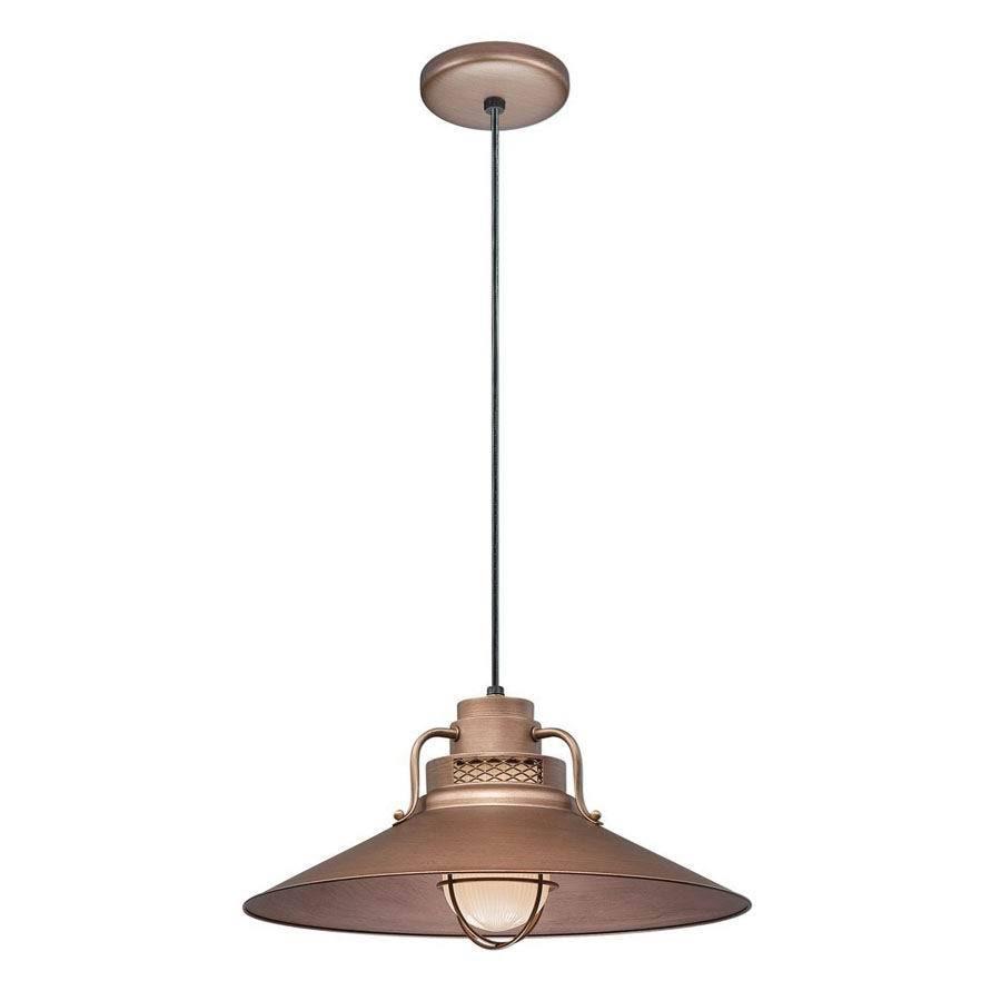 Millennium Lighting R Series 18-in Copper Barn Mini Warehouse Pendant