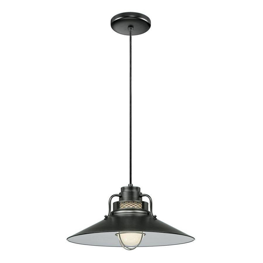 Millennium Lighting R Series 18-in Satin Black Barn Mini Warehouse Pendant