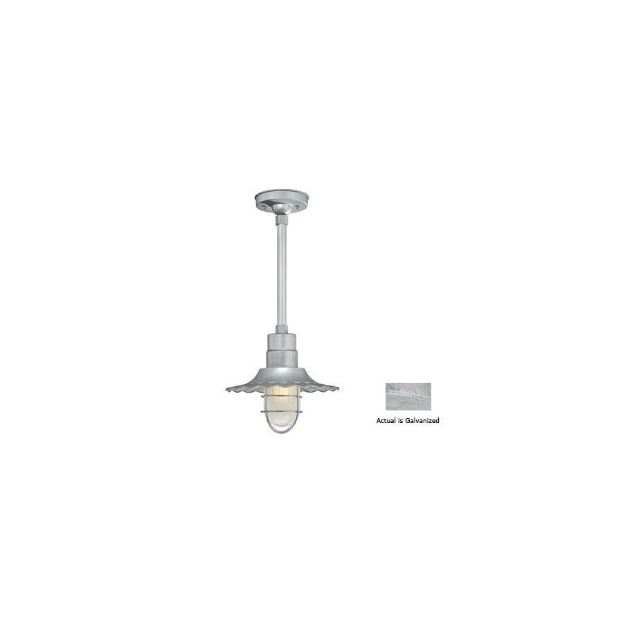 Millennium Lighting R Series 11-1/4-in Galvanized Outdoor Pendant Light
