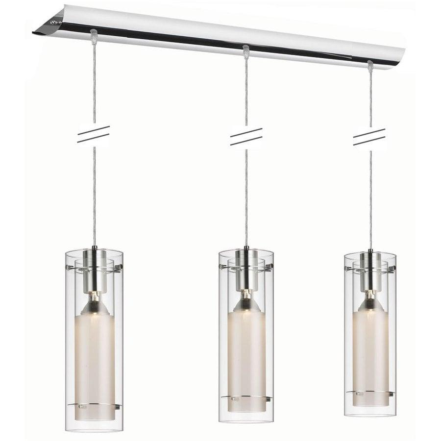 lighting stem 35 in w 3 light polished chrome kitchen island light. Black Bedroom Furniture Sets. Home Design Ideas
