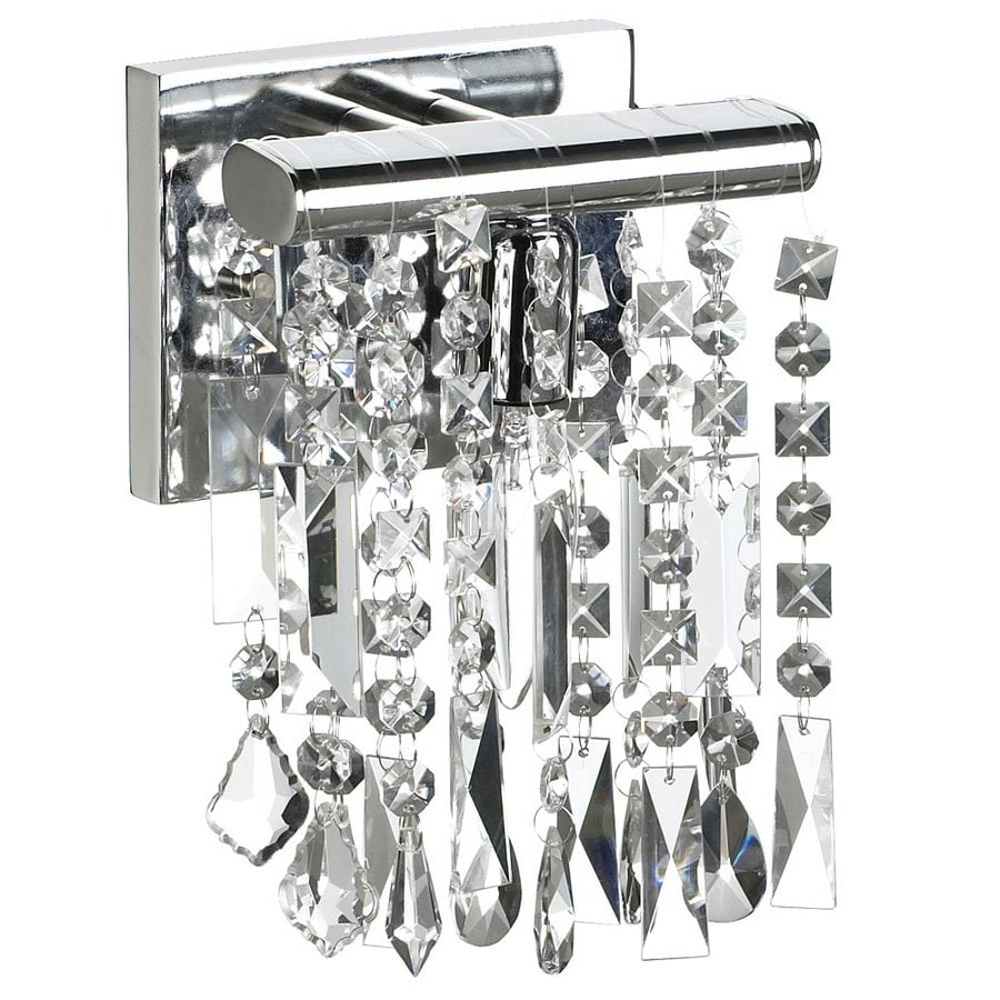 Dainolite Lighting Polished Chrome Crystal Accent Bathroom Vanity Light