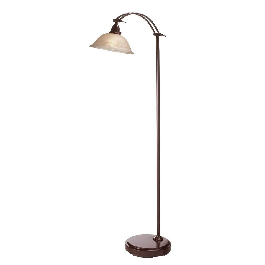 Shop dainolite lighting 60 in espresso indoor floor lamp for Glass lantern floor lamp