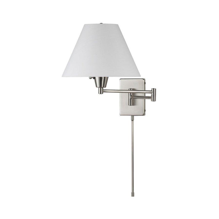 Dainolite Lighting Trilight 12-in W 1-Light Satin Chrome Arm Hardwired Wall Sconce