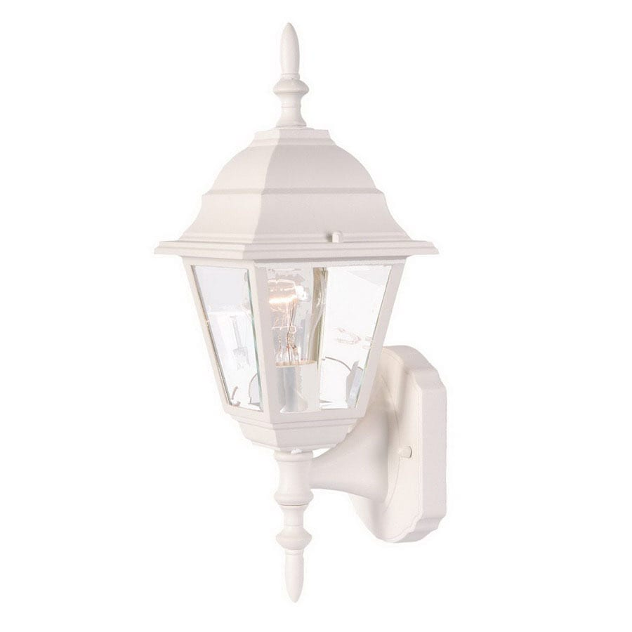 Acclaim Lighting Builders Choice 16-1/4-in Textured White Outdoor Wall Light