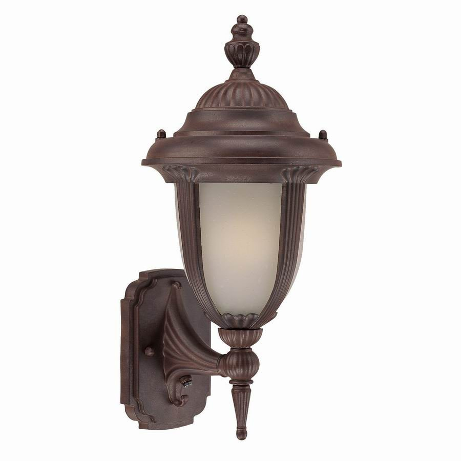 Acclaim Lighting Monterey 16-in Burled Walnut Outdoor Wall Light ENERGY STAR