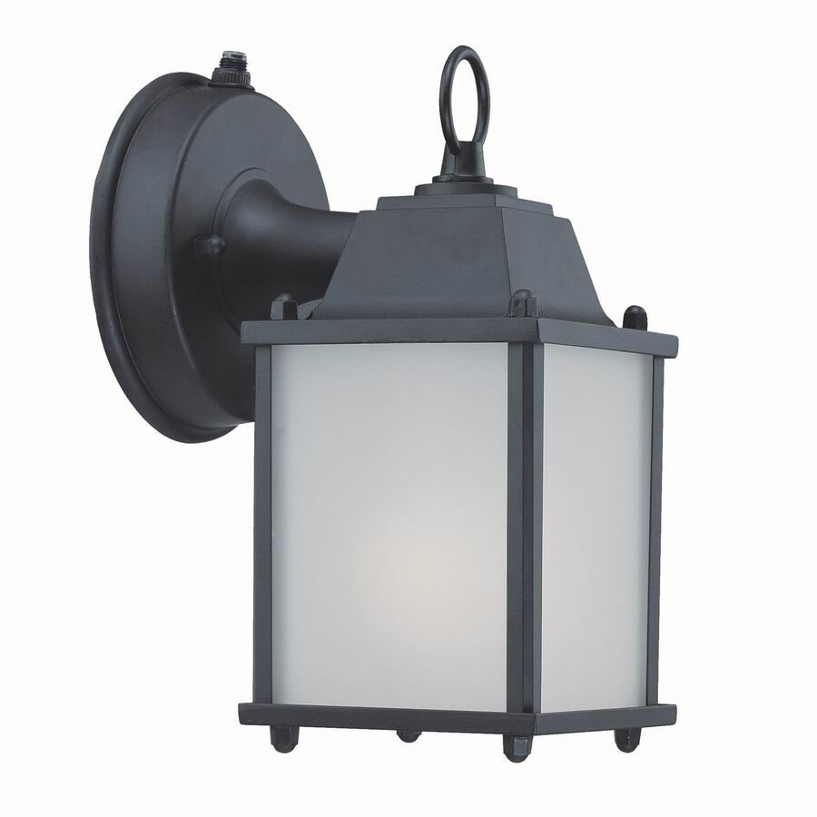 Acclaim Lighting Builders Choice 8-in Matte Black Outdoor Wall Light ENERGY STAR