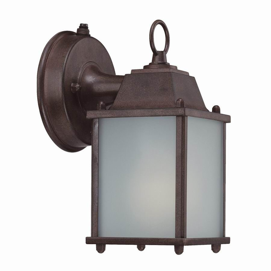 Acclaim Lighting Builders Choice 8-in Burled Walnut Outdoor Wall Light ENERGY STAR