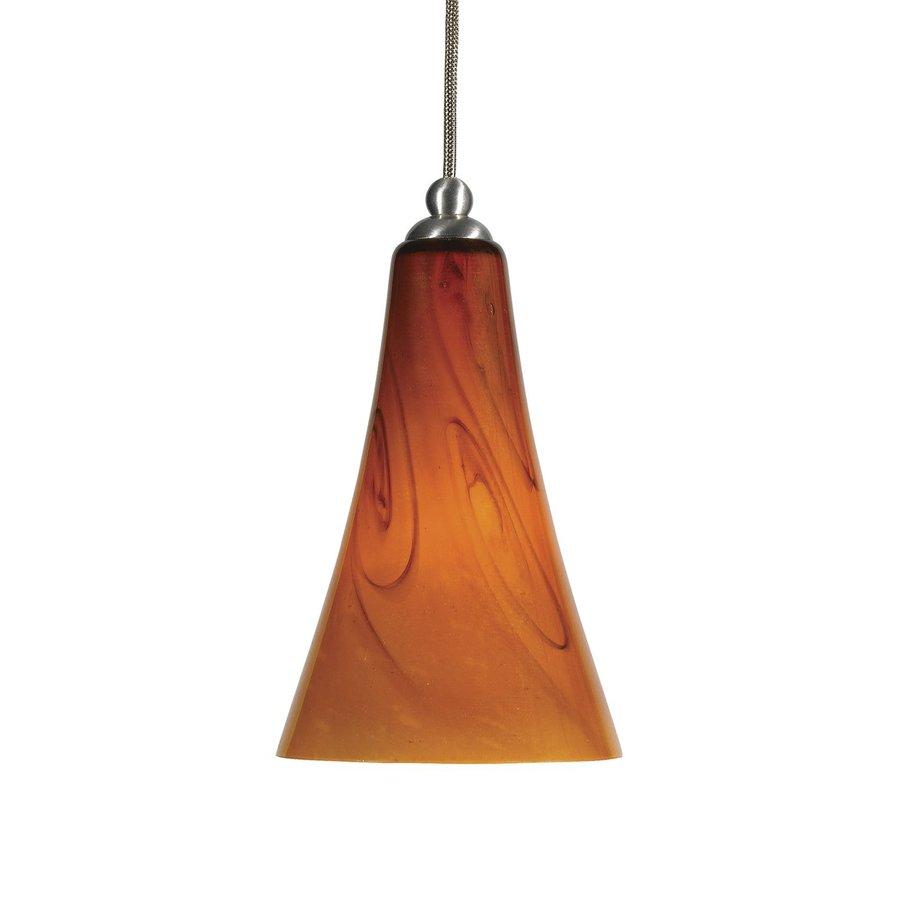 Cal Lighting 5.4-in Braided Steel Mini Art Glass Bell Pendant