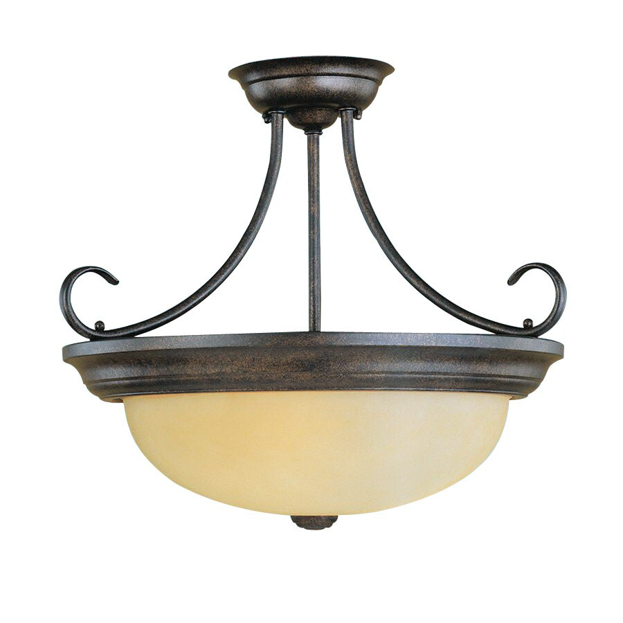 Millennium Lighting 17-in W Burnished Gold Semi-Flush Mount Light