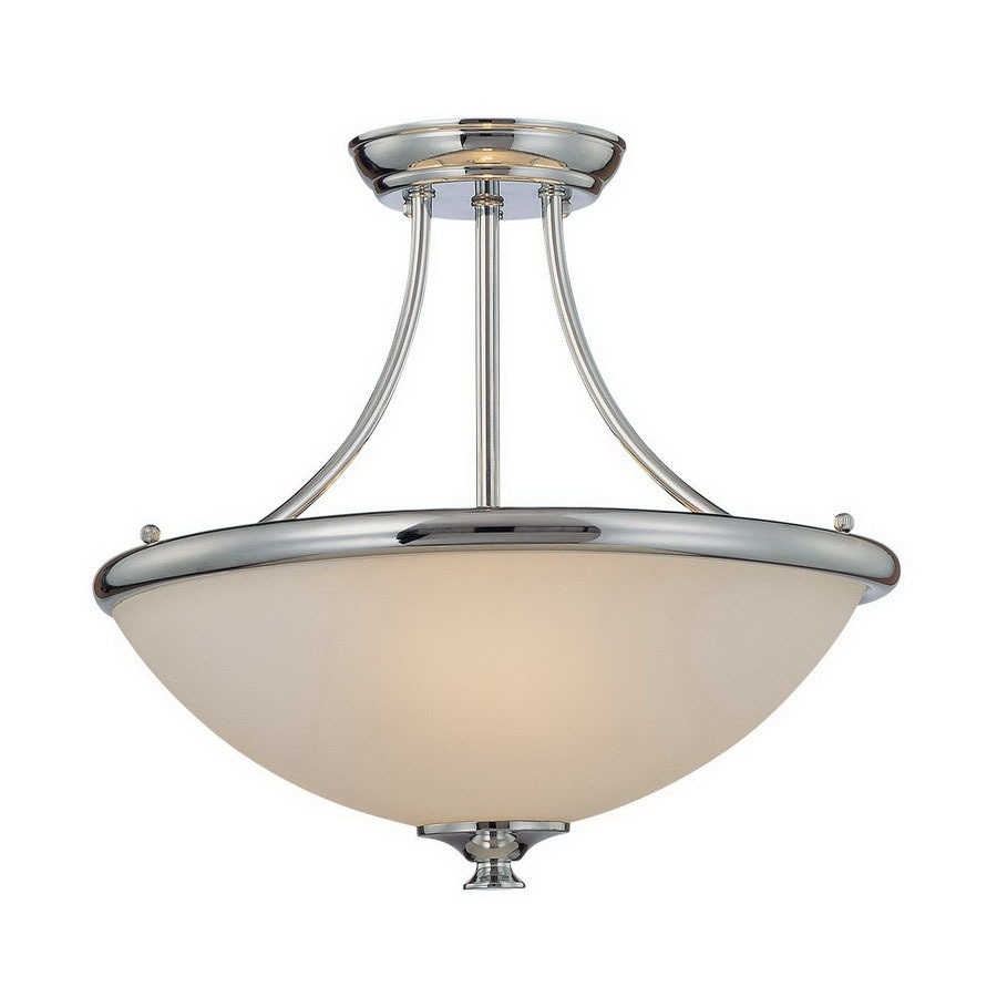 Shop Millennium Lighting W Chrome Semi Flush Mount Light At