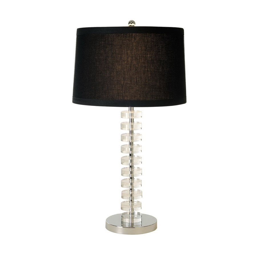 Trend Lighting 27-in Chrome Indoor Table Lamp with Fabric Shade