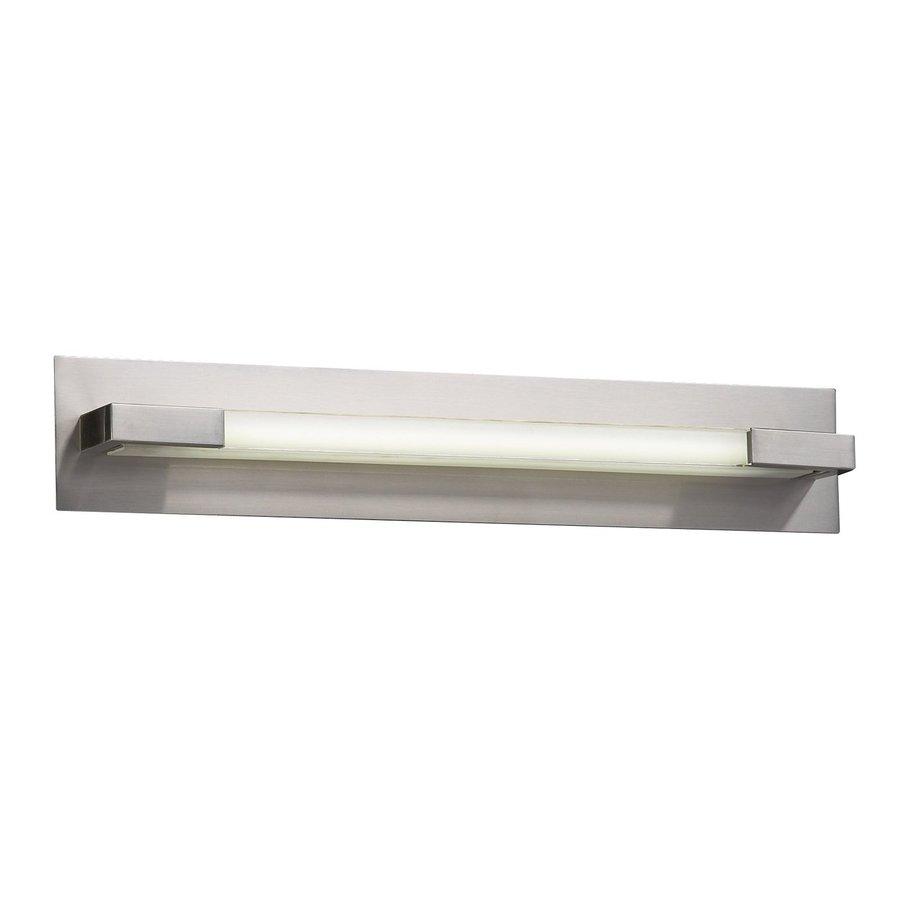 PLC Lighting 1-Light Polis Satin Nickel Standard Bathroom Vanity Light