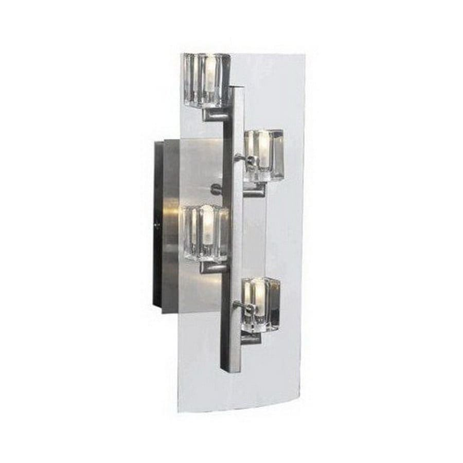 PLC Lighting 5.5-in W 4-Light Satin Nickel Arm Hardwired Wall Sconce