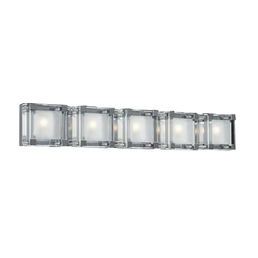 PLC Lighting Corte 33.5-in W 5-Light Polished Chrome Pocket Hardwired Wall Sconce