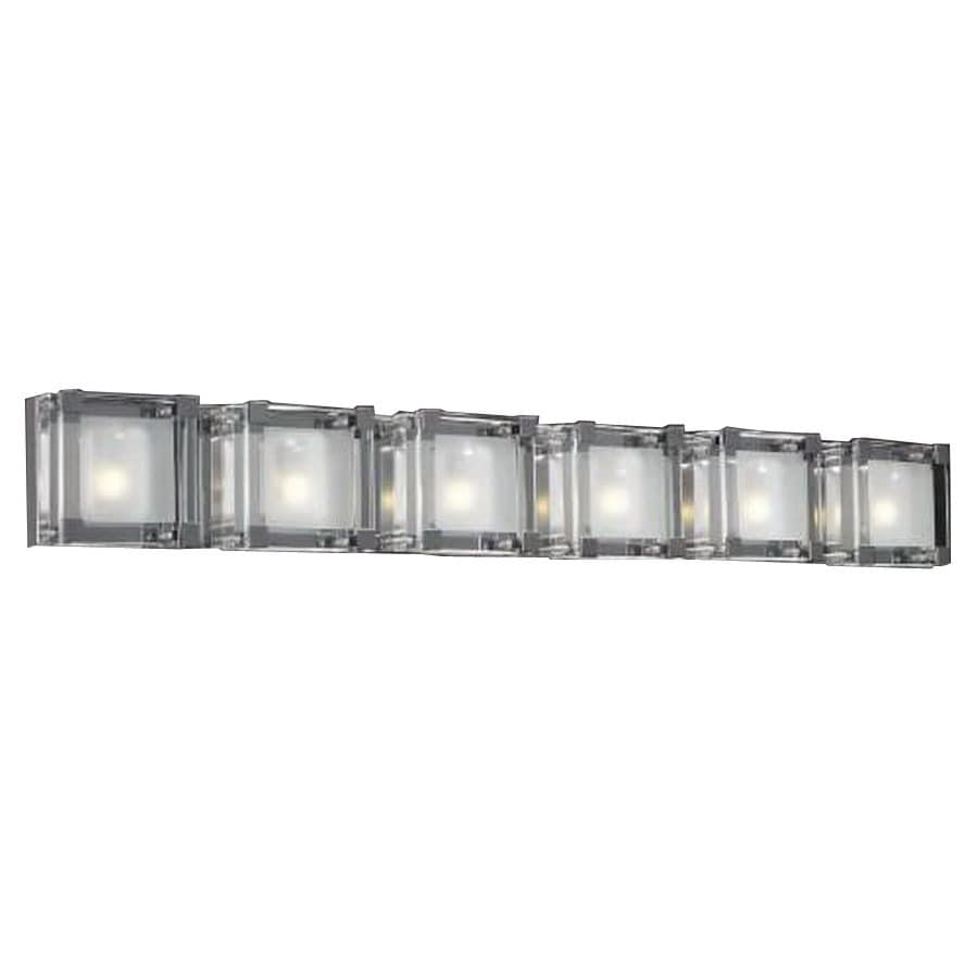PLC Lighting Corte 40.5-in W 6-Light Polished Chrome Pocket Hardwired Wall Sconce